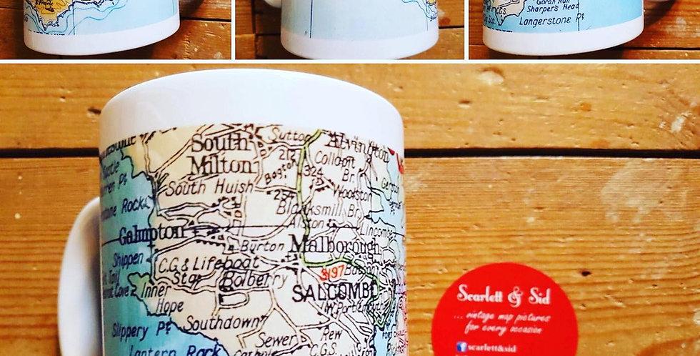 Vintage Map Mugs