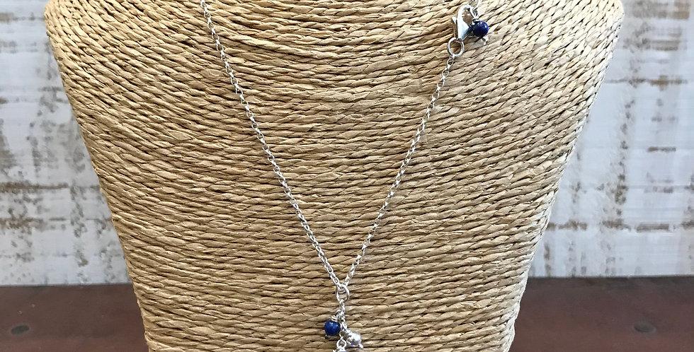 Bead & Bauble Lapis Lazuli & Silver Necklace