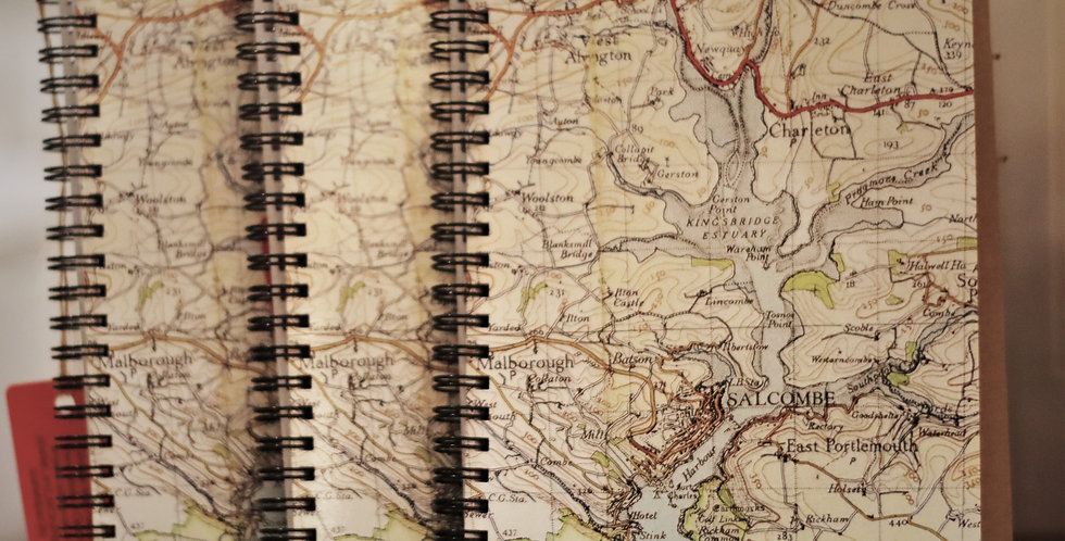 Vintage Map Notebooks