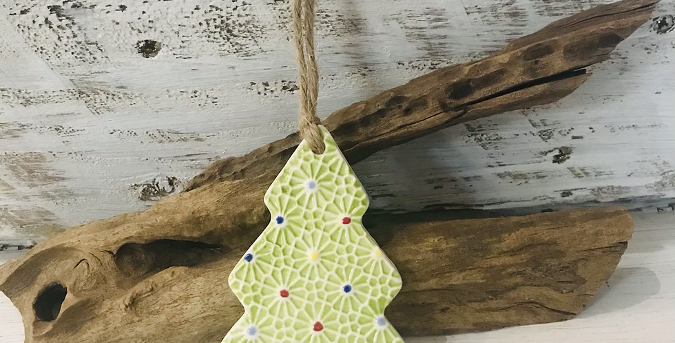 Small Green Porcelain Tree