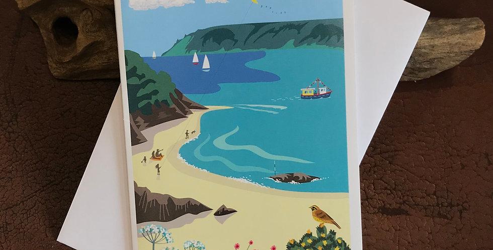 Sunny Cove, Salcombe Card