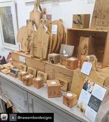 New Embers display, handmade in Blackawton