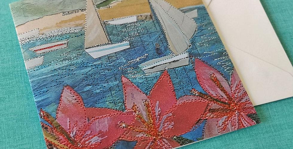 Sailboats & Flower Card