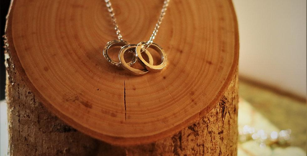 Silver Danish Rings Pendant