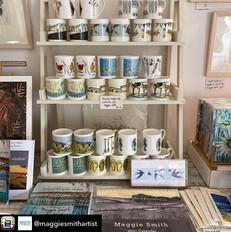 Maggie Smith's display, Goveton artist