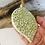 Thumbnail: Flower Pattern Green Porcelain Bauble