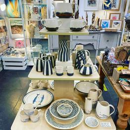 Mary Jane Macleod's display, handmade in Noss Mayo