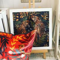Lucy Rose cushion & print, South Milton illustrator