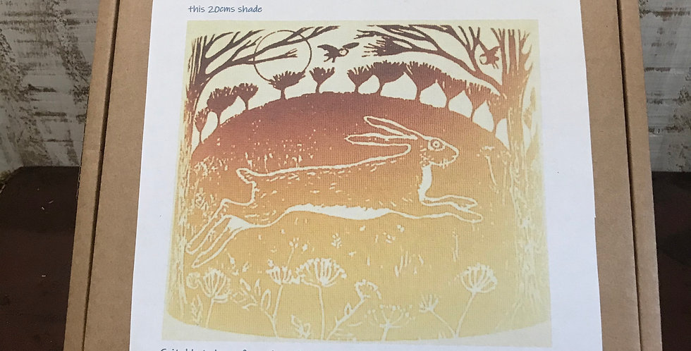 Lampshade Kit - Gold Hare