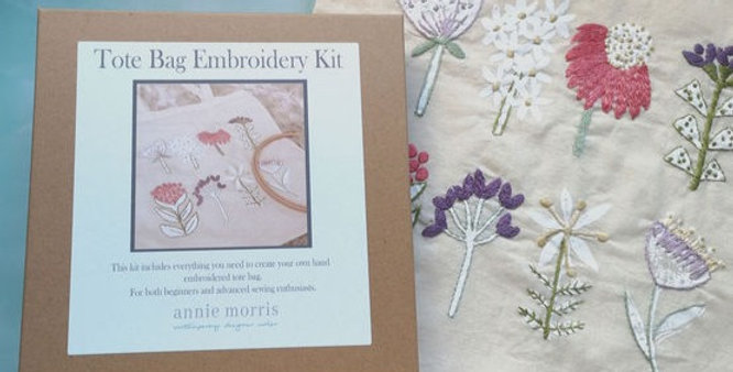 Tote Bag Hand Embroidery Kit