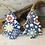 Thumbnail: Small Flower Pattern Blue Porcelain Tree