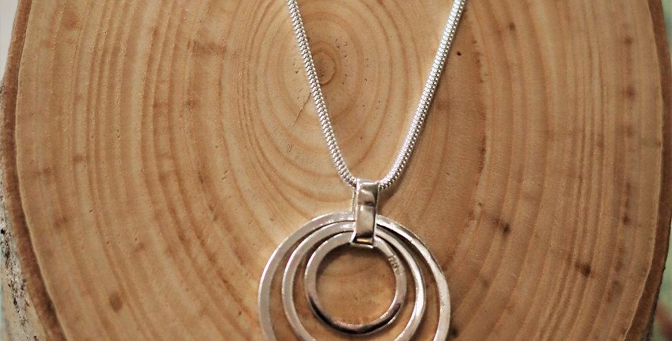 Silver Triple Circle Pendant