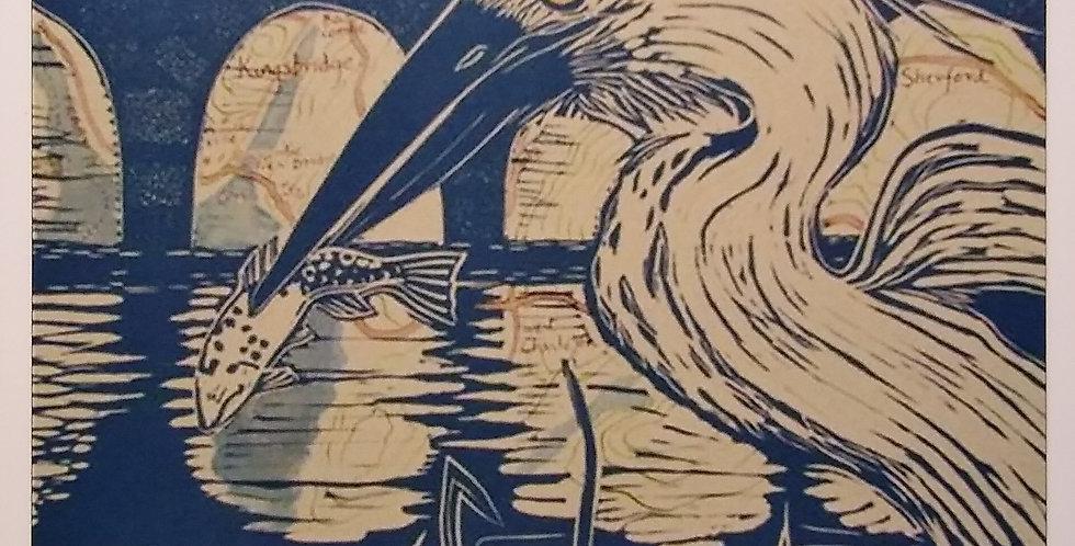 Grey Heron, Bowcombe Card