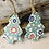 Thumbnail: Small Flower Pattern Teal Porcelain Tree