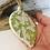 Thumbnail: Butterfly Pattern Green Porcelain Bauble