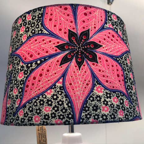Dragonfly Design lampshade, handmade in West Alvington