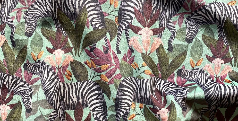 Velvet Zebra in Mint Swatch