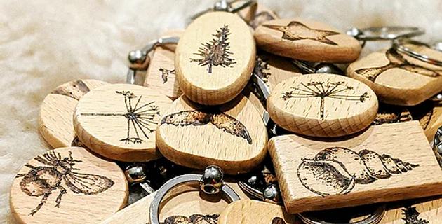 Handburnt Wooden Keyrings