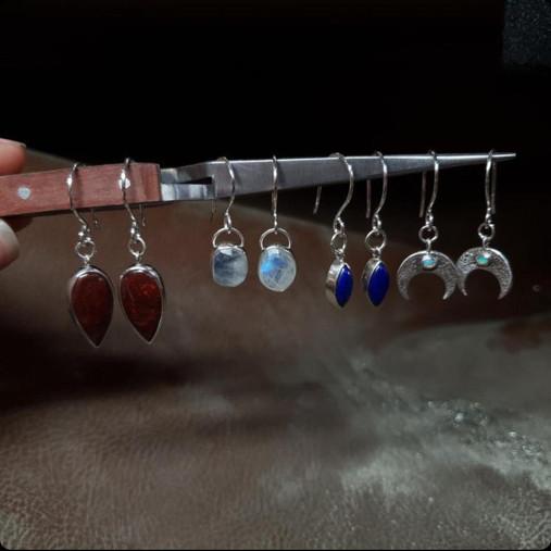 Made by Oonagh earrings, handmade in Totnes