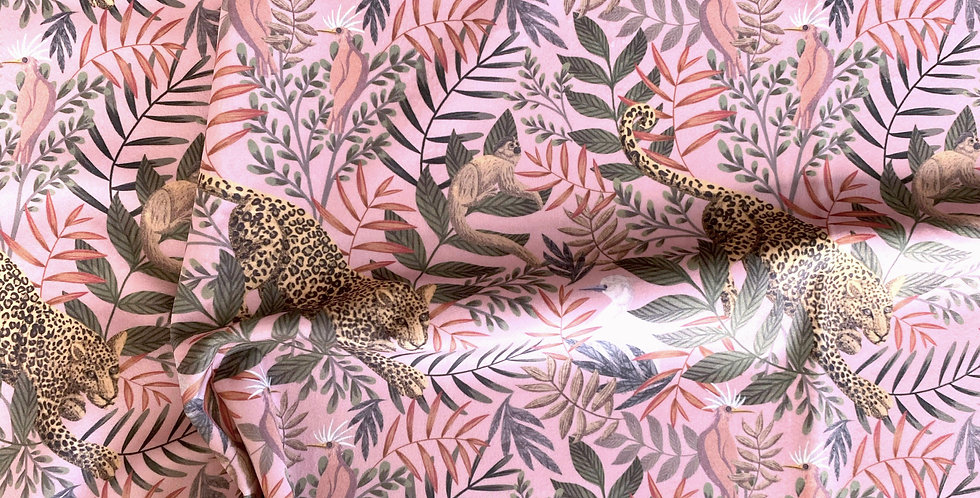 Velvet Pink Tropical Leopard Swatch