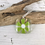 Thumbnail: Glass Hanging with Lime Green Flower