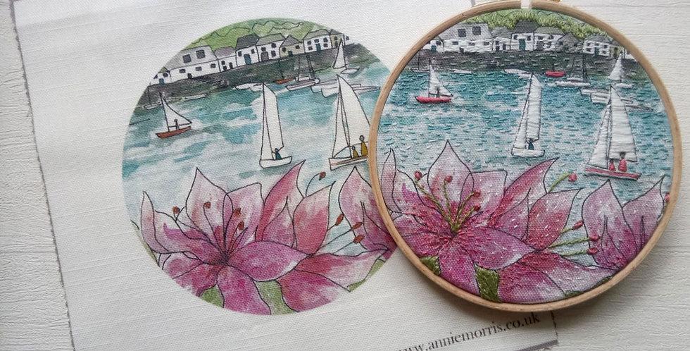 Salcombe Regatta Embroidery Linen Panel