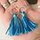 Thumbnail: Blue & Teal Tassel Earrings