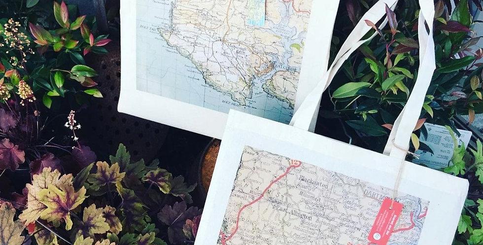 Vintage Map Tote Bags