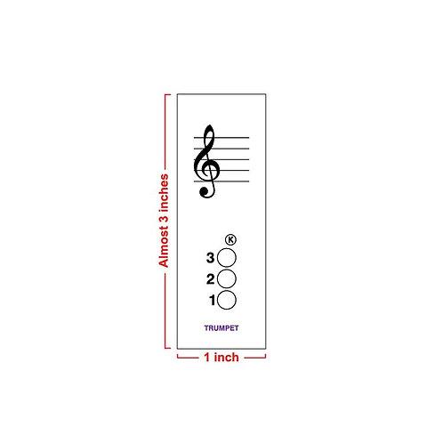 Fingering Chart Post-It Pad - Trumpet