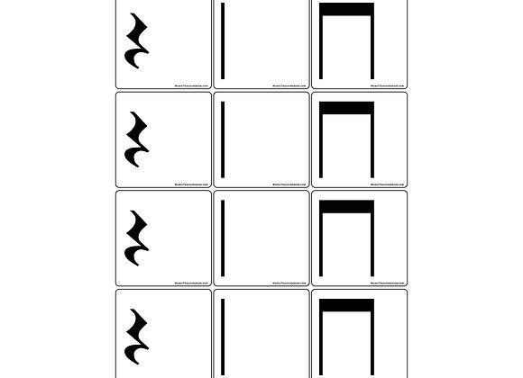 Stick Notation Rhythm Magnets - Set 1