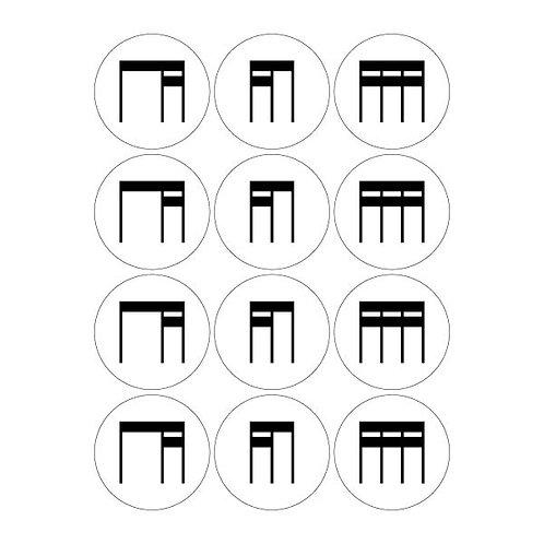 Stick Rhythm Magnets, Set 2 - Student Pack