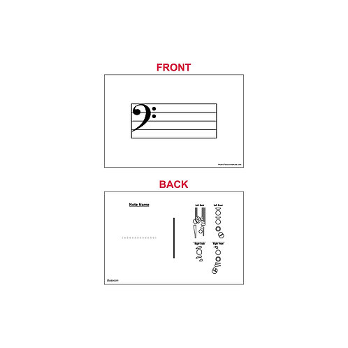 Fingering Chart Flash Cards - Bassoon