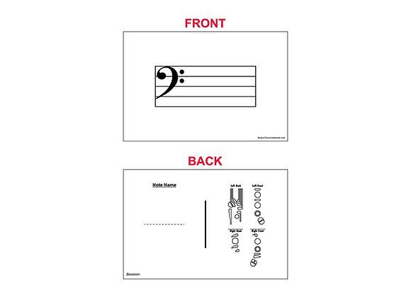 Fingering Chart Flash Cards - Bassoon