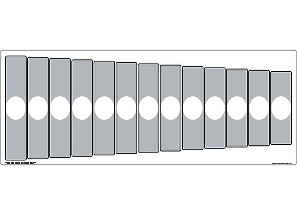 Orff Barred Instrument Dry Erase Magnet - Gray