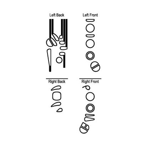 Bassoon Self-inking Rubber Stamp