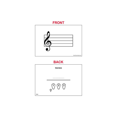 Fingering Chart Flash Cards - French Horn