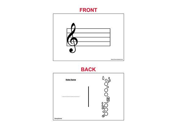 Fingering Chart Flash Cards - Saxophone