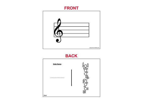 Fingering Chart Flash Cards - Oboe
