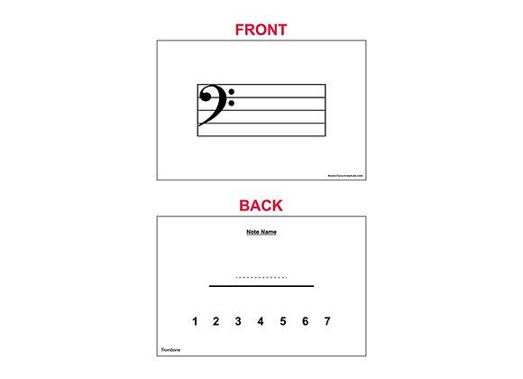Fingering Chart Flash Cards - Trombone