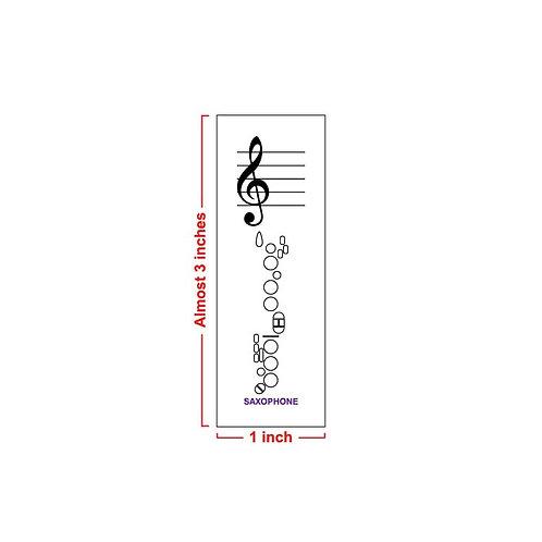 Fingering Chart Post-It Pad - Saxophone