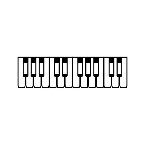 Piano Keyboard Self-inking Rubber Stamp