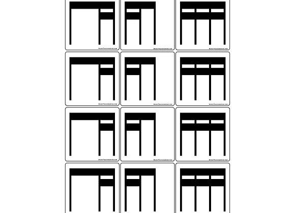 Stick Notation Rhythm Magnets - Set 2
