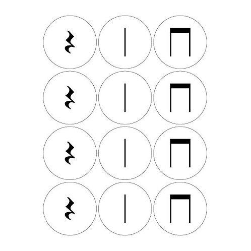 Stick Rhythm Magnets, Set 1 - Student Pack