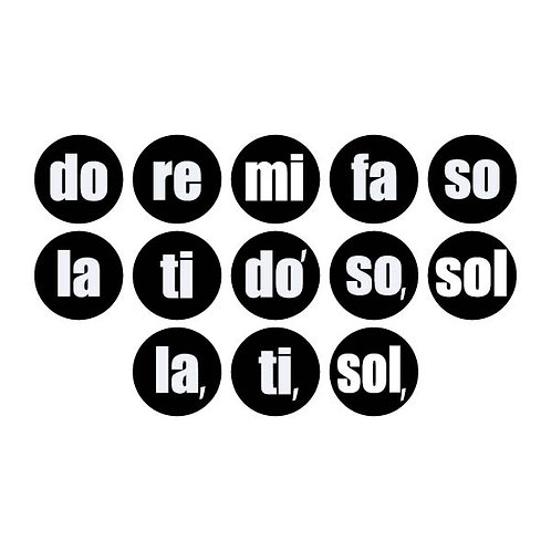 Solfege Dots (Black & White) - Student Pack