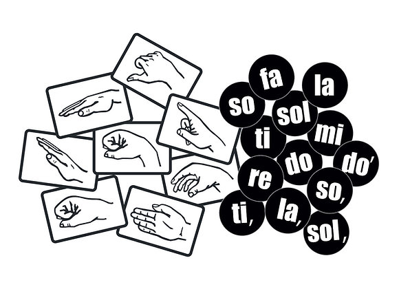 Magnetic Solfege Hand Signs and Dots Combo Set