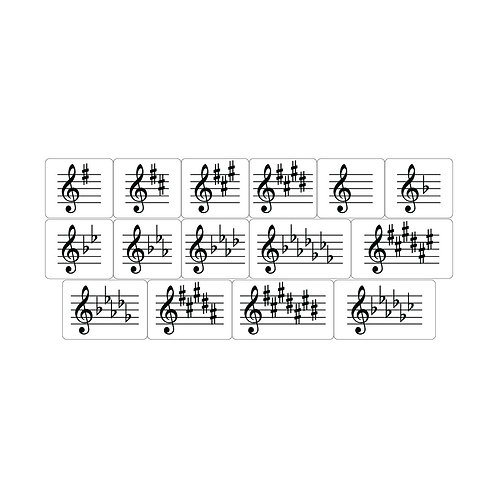 "Key Signature ""Flash Card"" Magnets"