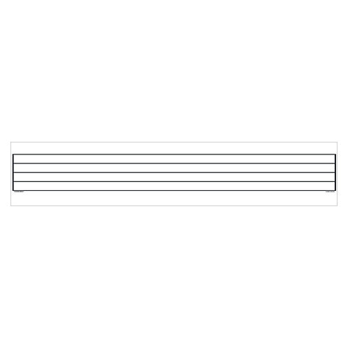 Music Staff Dry Erase Magnet - 4 ft Wide