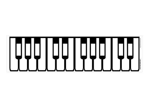 Piano Keyboard Dry Erase Magnet