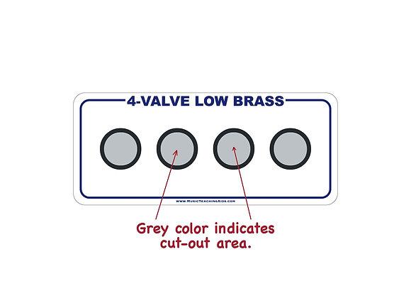 4-Valve Low Brass Fingering Chart Magnet