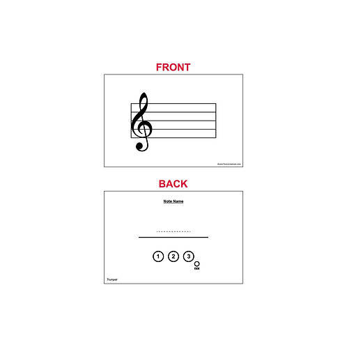 Fingering Chart Flash Cards - Trumpet